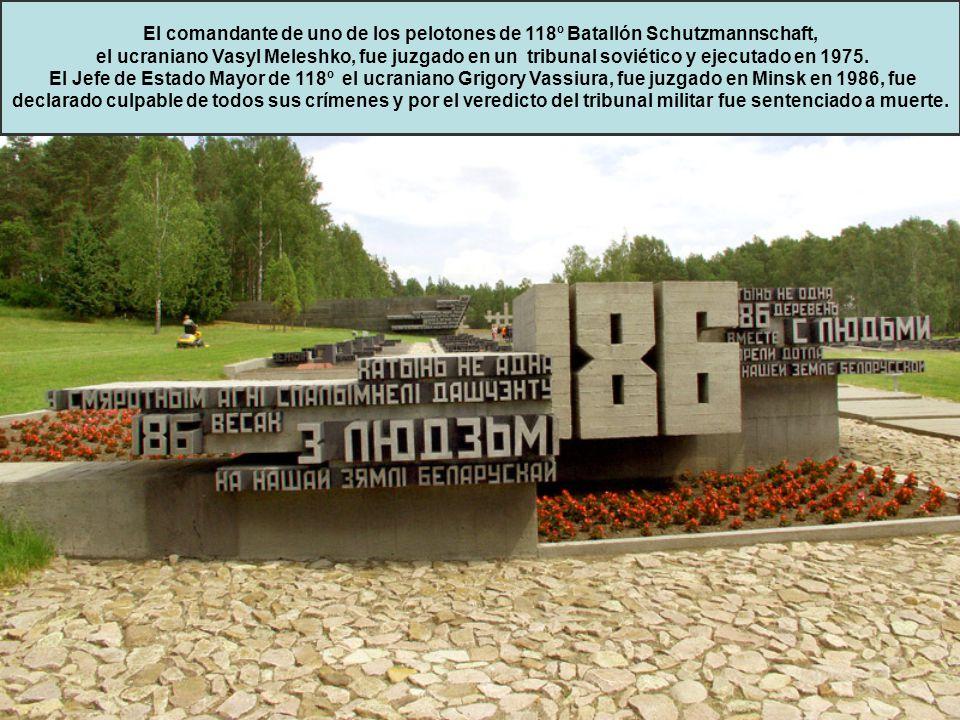 El comandante de uno de los pelotones de 118º Batallón Schutzmannschaft,
