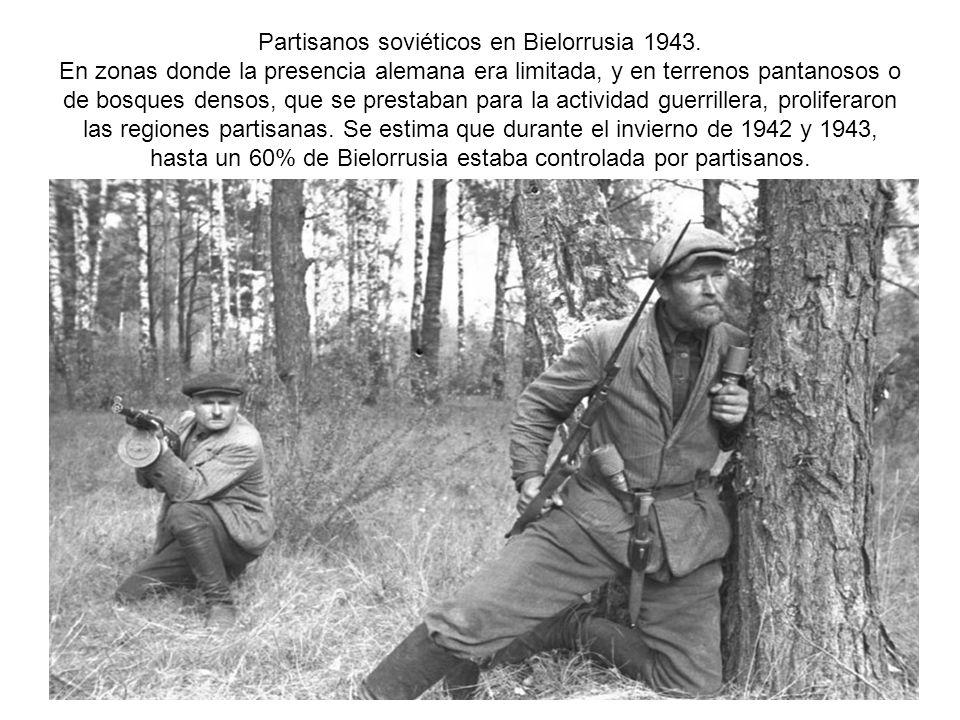 Partisanos soviéticos en Bielorrusia 1943