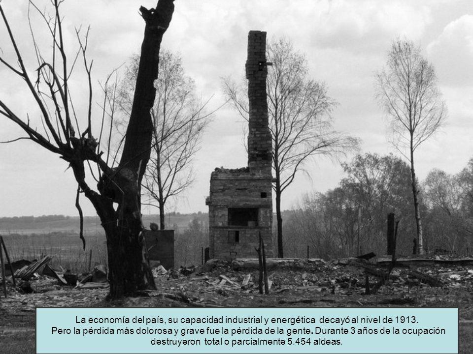 La economía del país, su capacidad industrial y energética decayó al nivel de 1913.