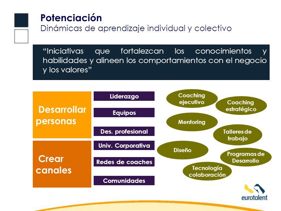 Potenciación Dinámicas de aprendizaje individual y colectivo