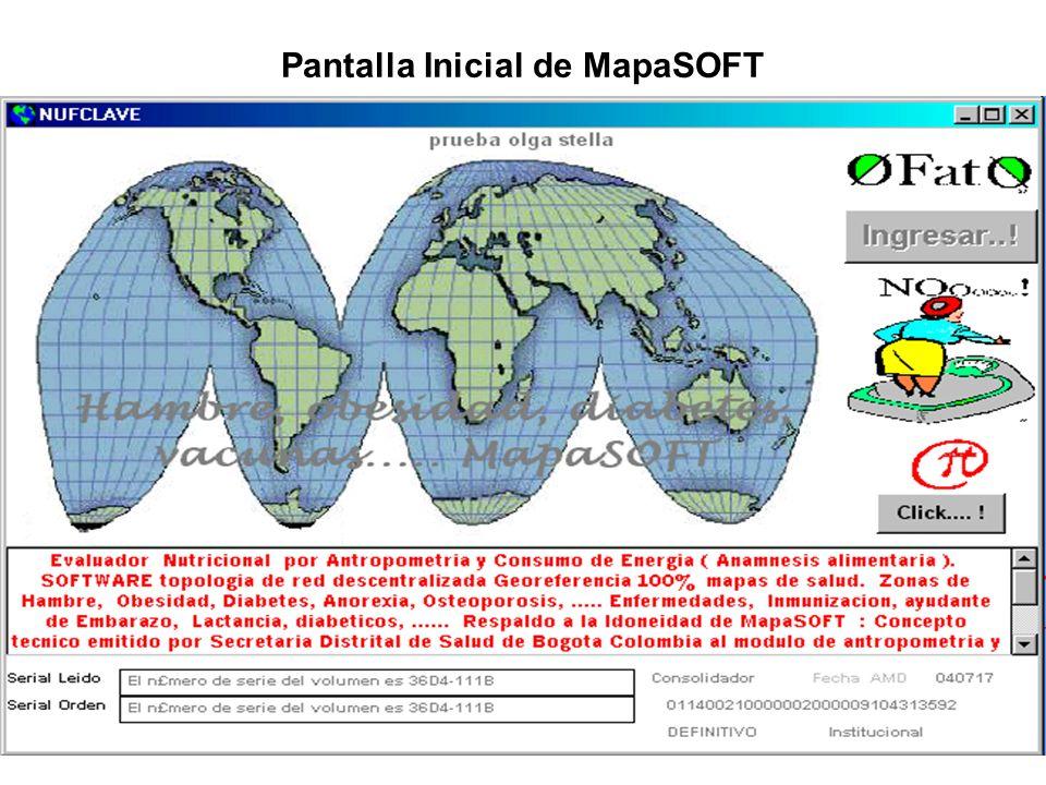 Pantalla Inicial de MapaSOFT