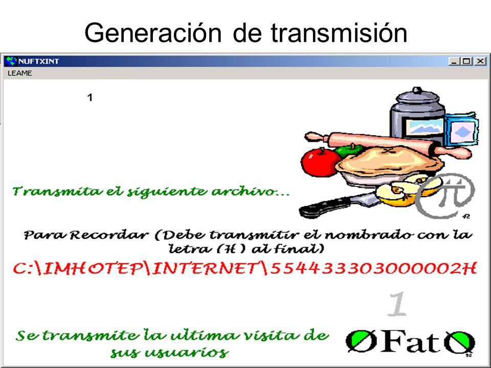 Generación de transmisión
