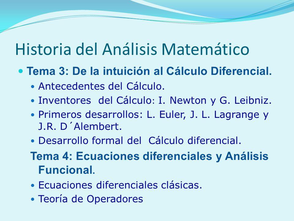 Historia del Análisis Matemático