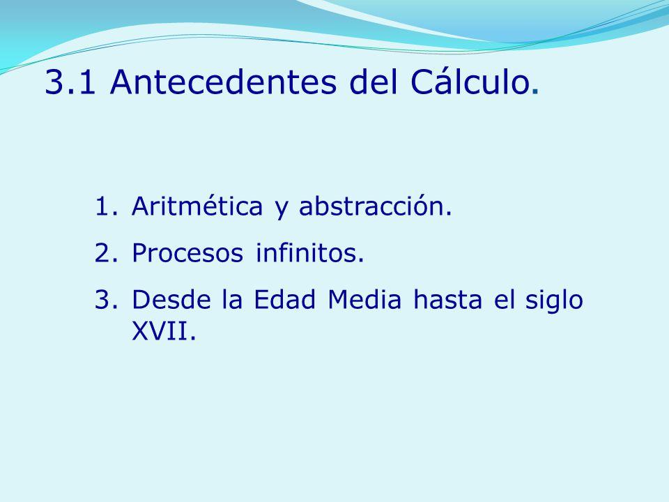 3.1 Antecedentes del Cálculo.