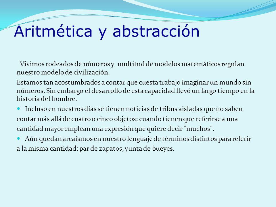 Aritmética y abstracción
