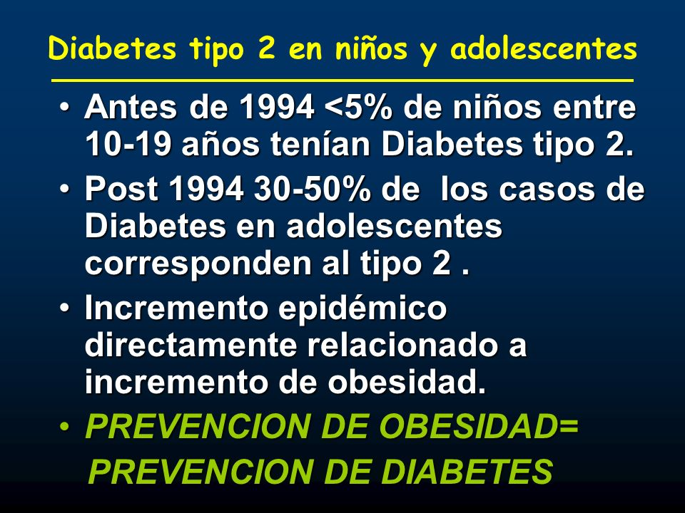 Diabetes tipo 2 en niños y adolescentes