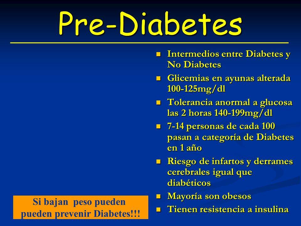 pueden prevenir Diabetes!!!