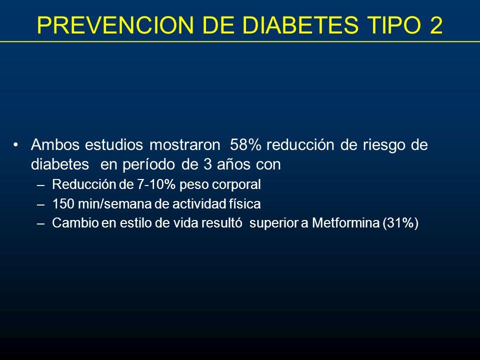 PREVENCION DE DIABETES TIPO 2