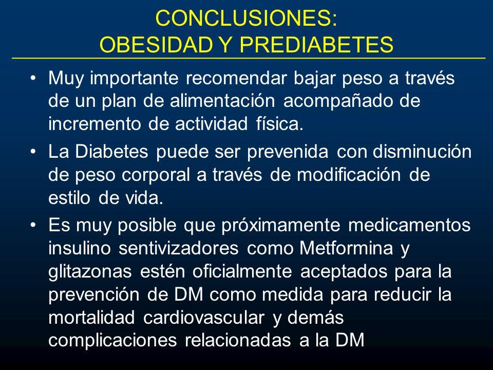 CONCLUSIONES: OBESIDAD Y PREDIABETES