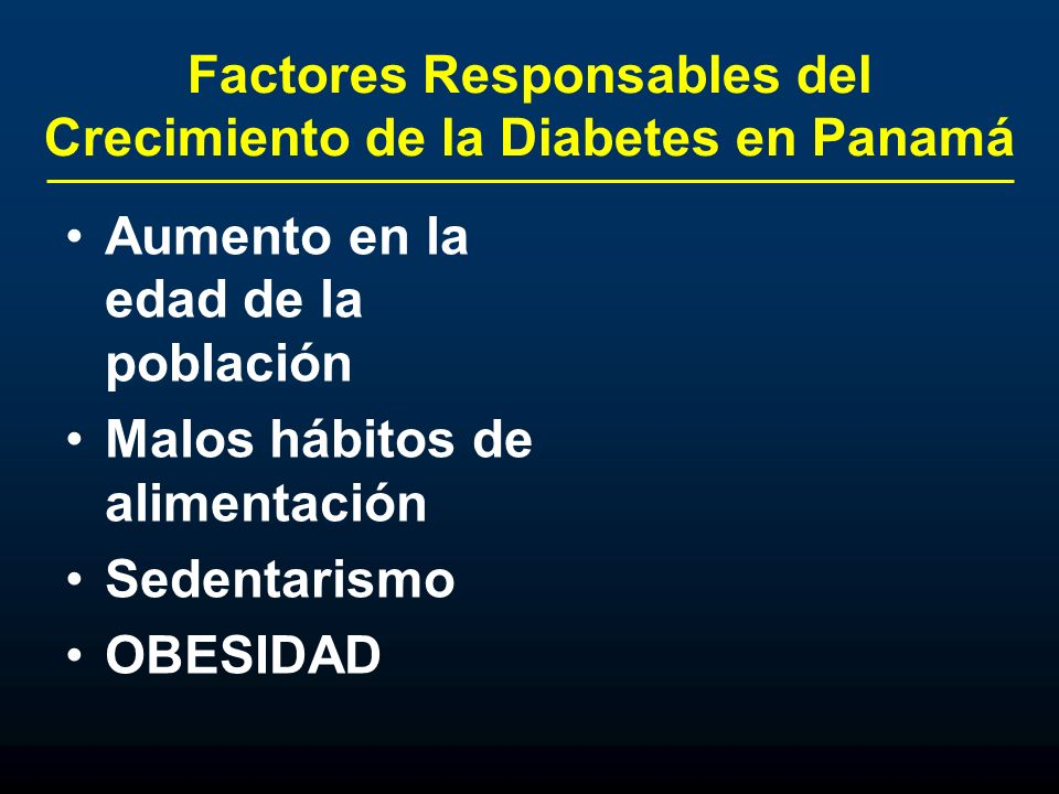 Factores Responsables del Crecimiento de la Diabetes en Panamá