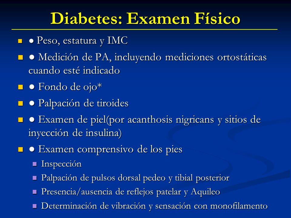 Diabetes: Examen Físico