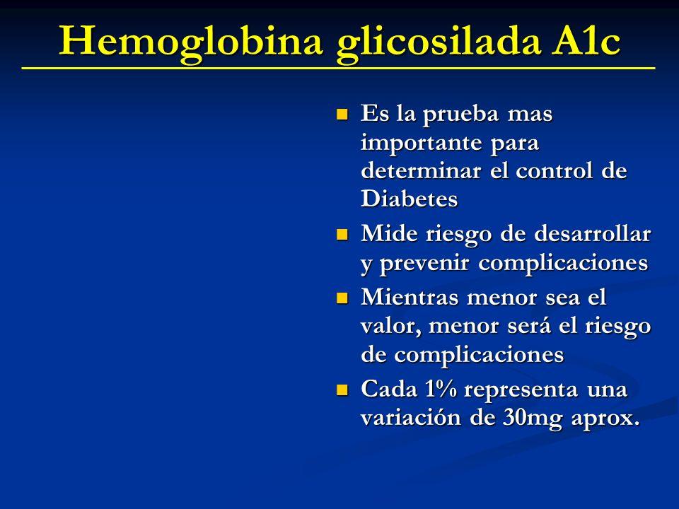 Hemoglobina glicosilada A1c