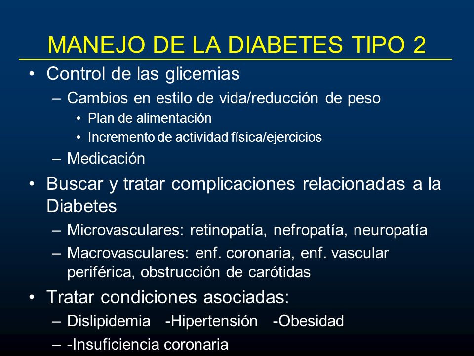 MANEJO DE LA DIABETES TIPO 2