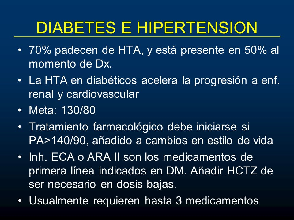 DIABETES E HIPERTENSION