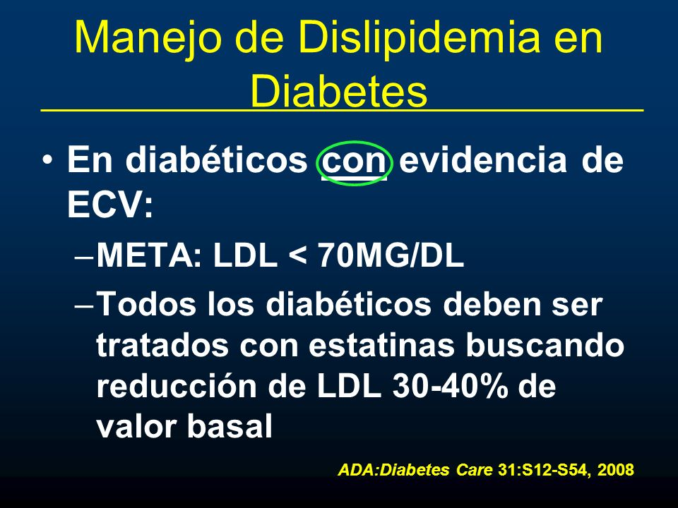 Manejo de Dislipidemia en Diabetes