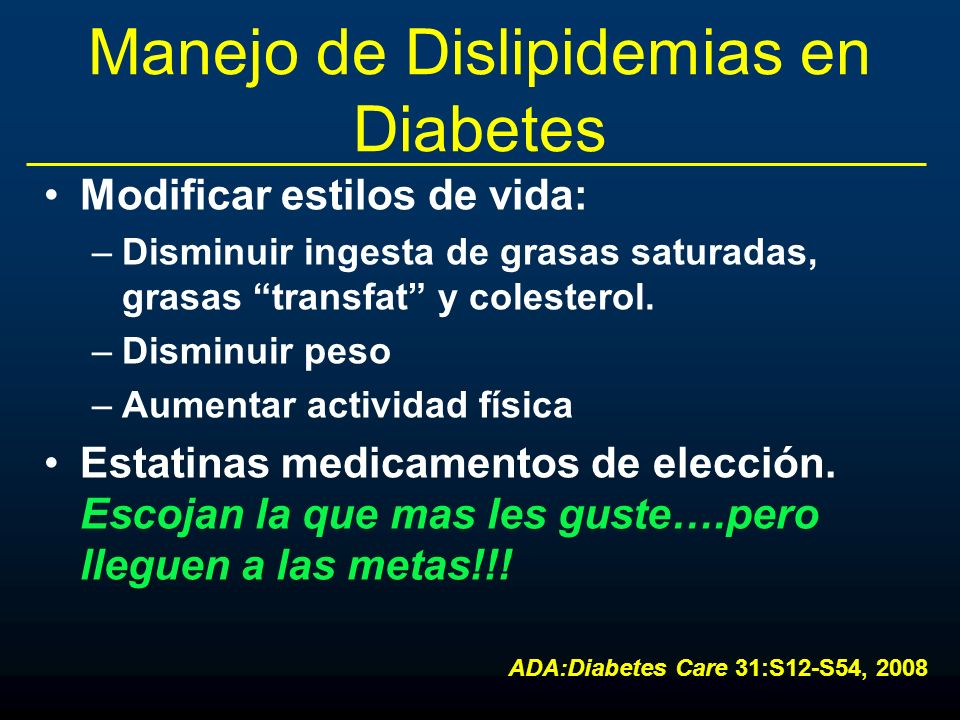 Manejo de Dislipidemias en Diabetes