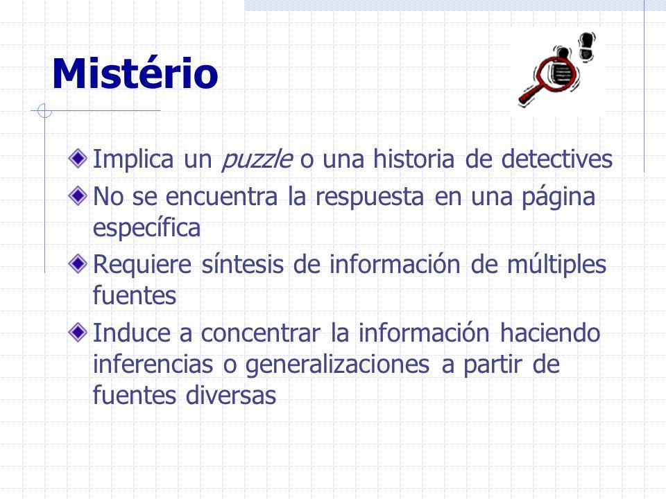 Mistério Implica un puzzle o una historia de detectives