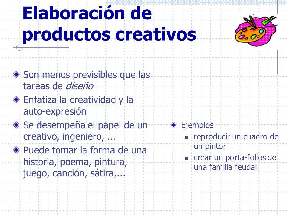 Elaboración de productos creativos