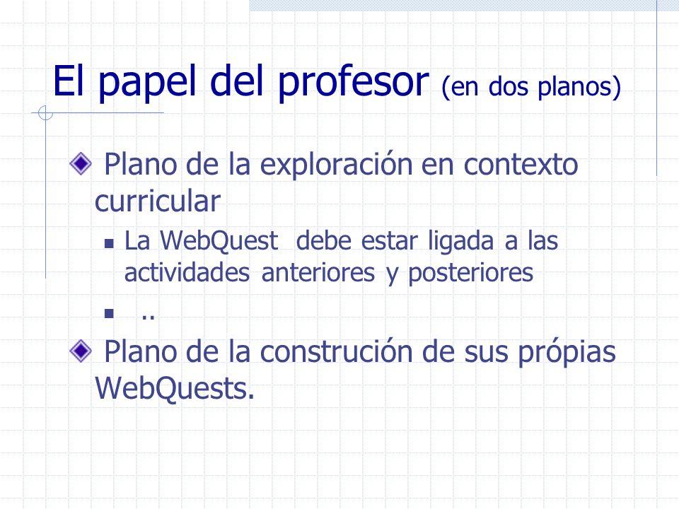 El papel del profesor (en dos planos)