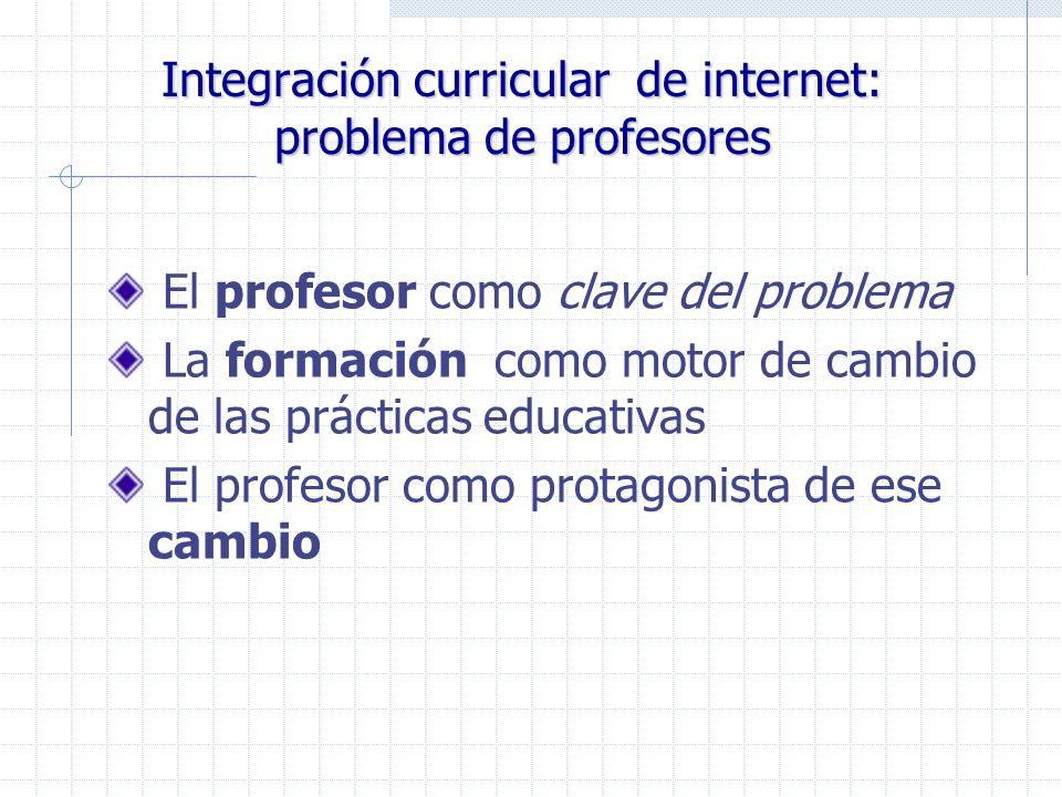 Integración curricular de internet: problema de profesores