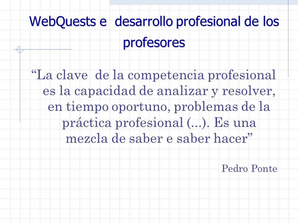 WebQuests e desarrollo profesional de los profesores