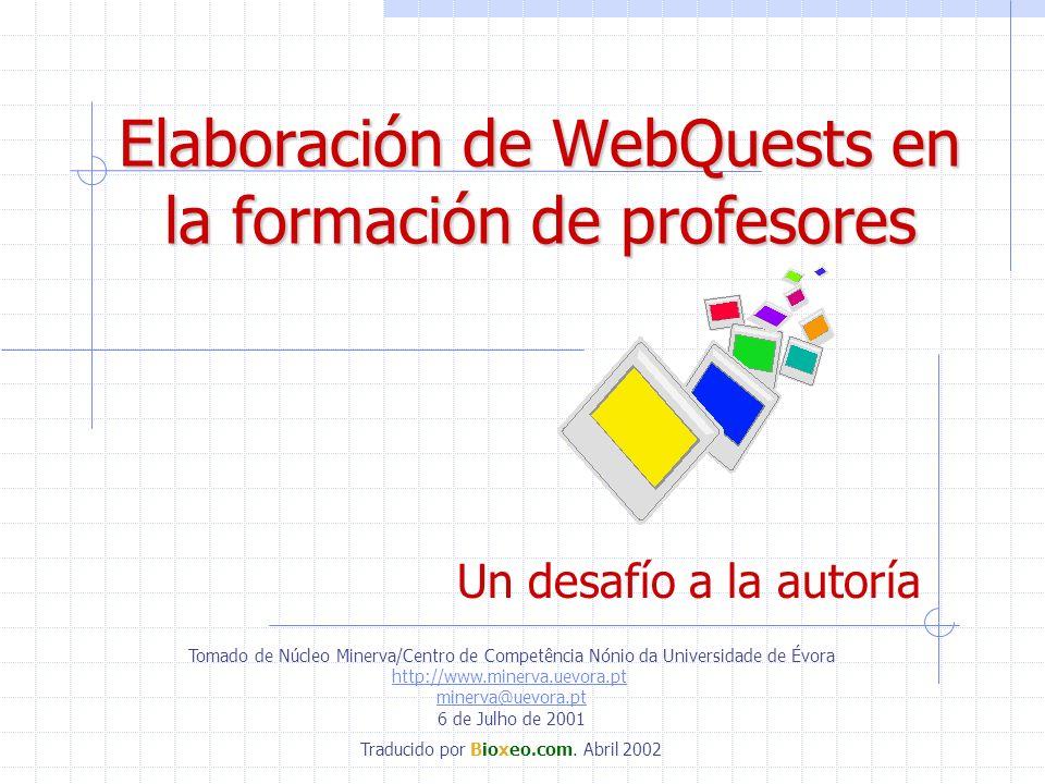 Elaboración de WebQuests en la formación de profesores
