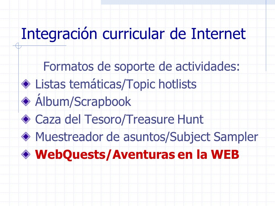 Integración curricular de Internet
