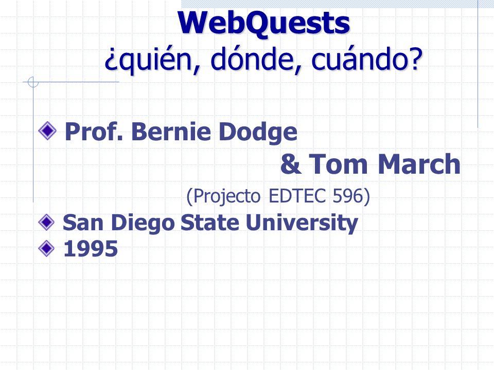 WebQuests ¿quién, dónde, cuándo