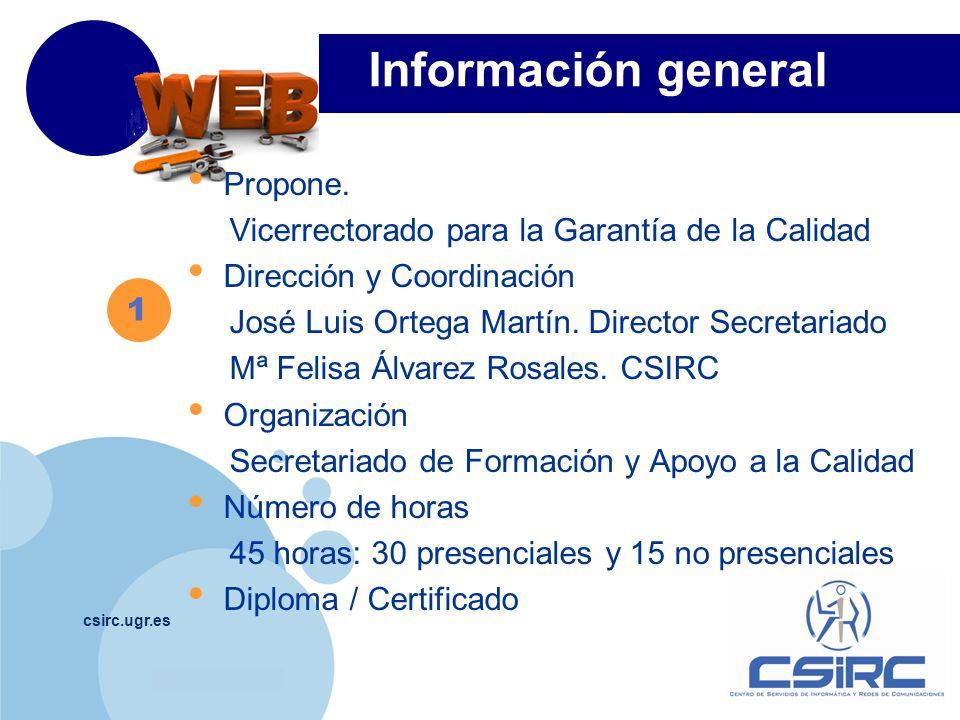 Información general Propone.