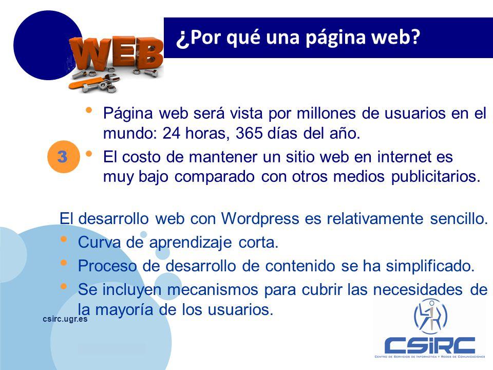 ¿Por qué una página web Página web será vista por millones de usuarios en el mundo: 24 horas, 365 días del año.