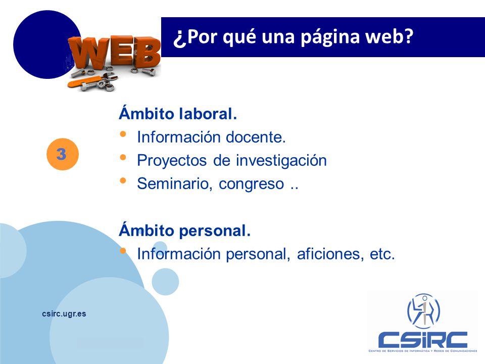 ¿Por qué una página web Ámbito laboral. Información docente.