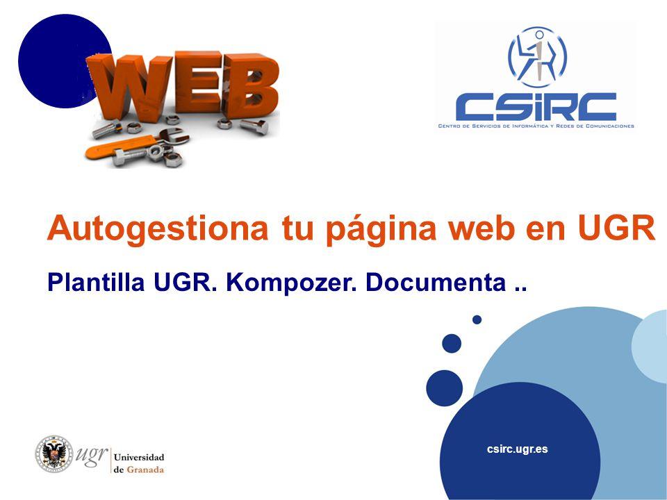 Autogestiona tu página web en UGR
