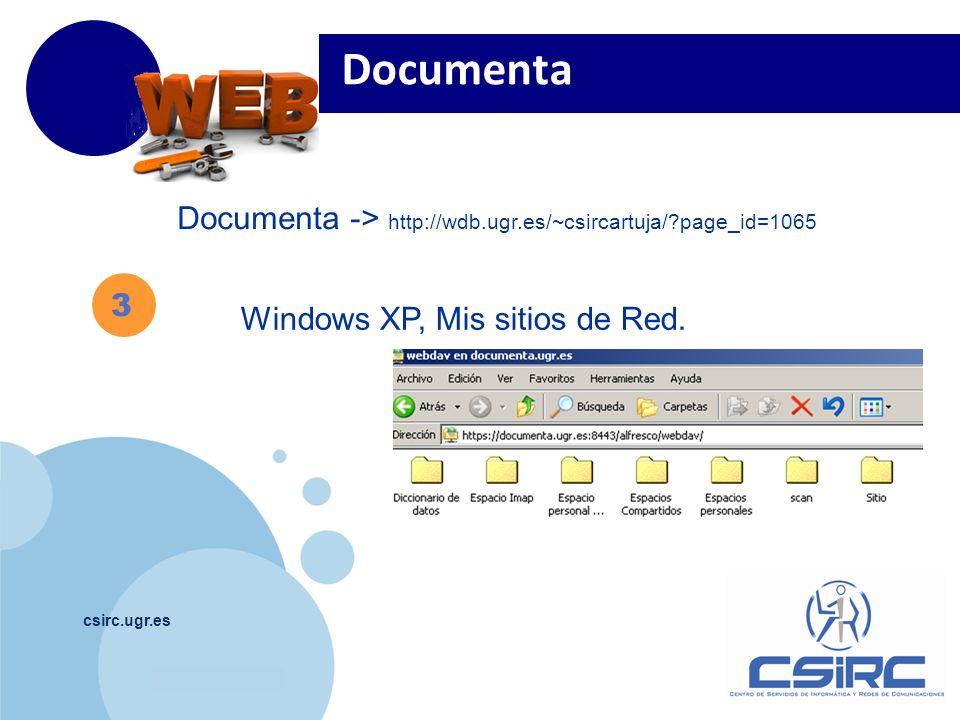 Documenta Documenta -> http://wdb.ugr.es/~csircartuja/ page_id=1065