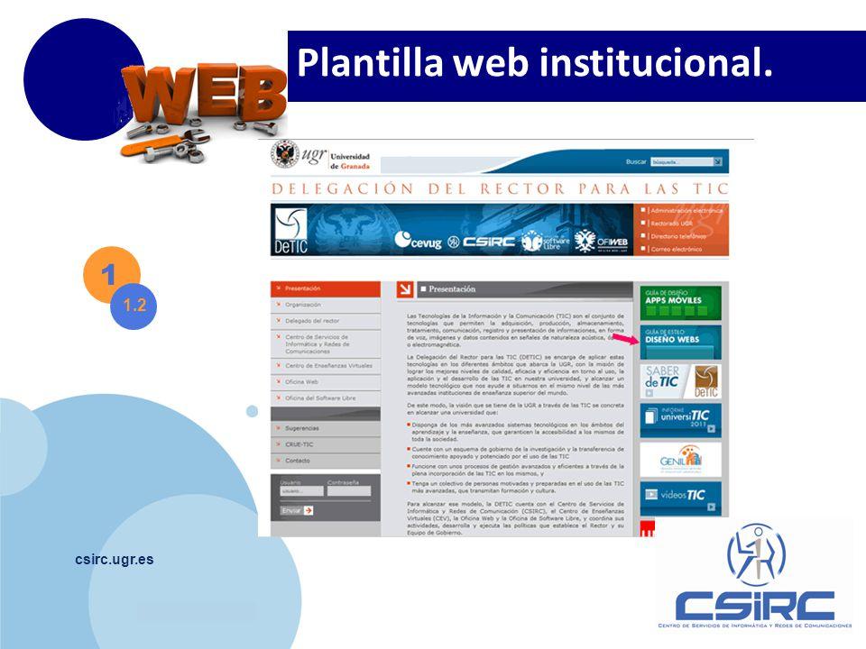 Plantilla web institucional.