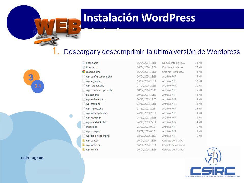 Instalación WordPress Dinámica
