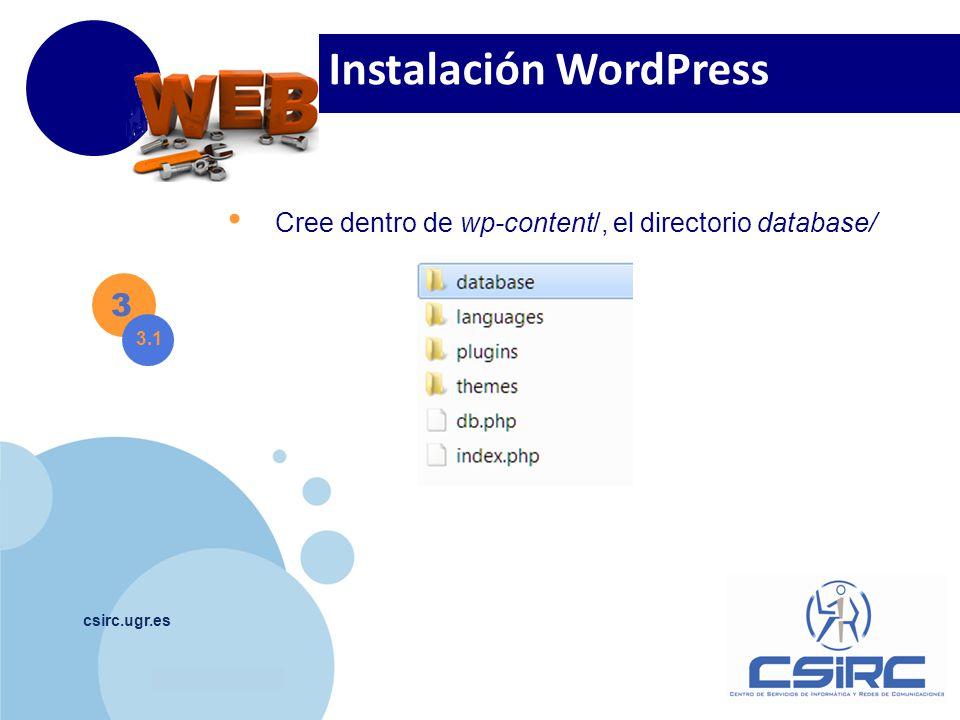 Instalación WordPress