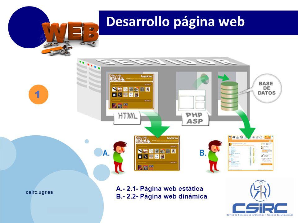Desarrollo página web 1 A.- 2.1- Página web estática