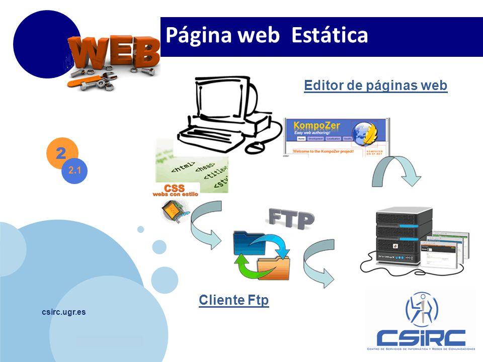 Página web Estática 2 Editor de páginas web Cliente Ftp 2.1