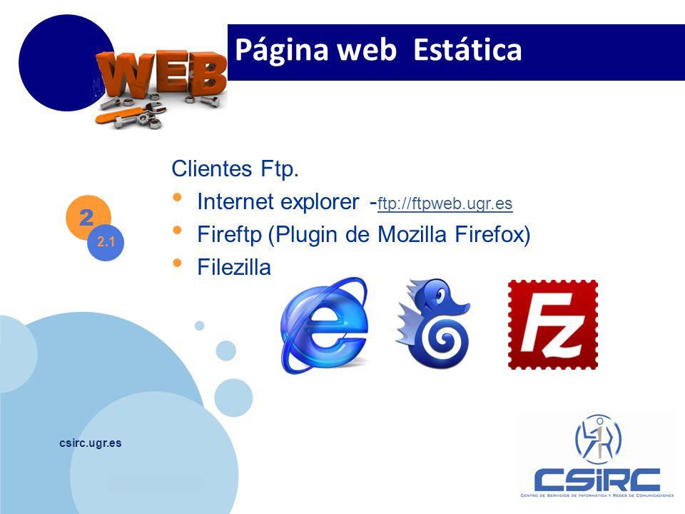 Página web Estática Clientes Ftp.