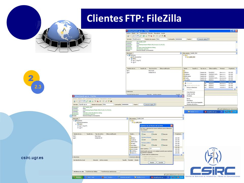 Clientes FTP: FileZilla