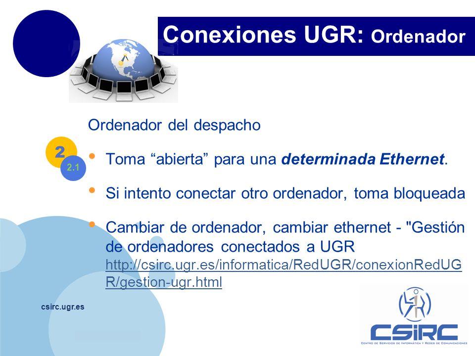 Conexiones UGR: Ordenador
