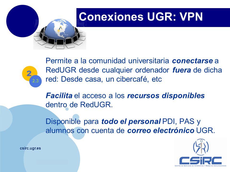 Conexiones UGR: VPN
