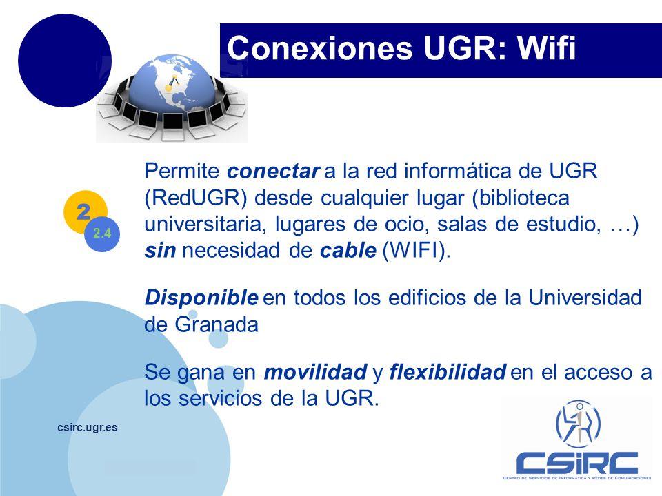 Conexiones UGR: Wifi