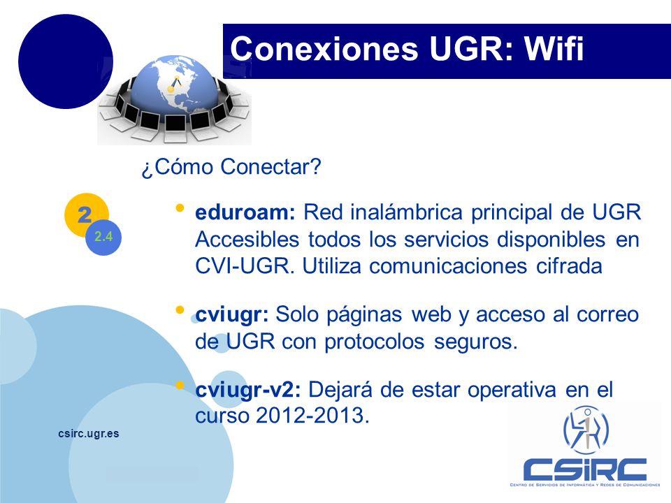 Conexiones UGR: Wifi ¿Cómo Conectar