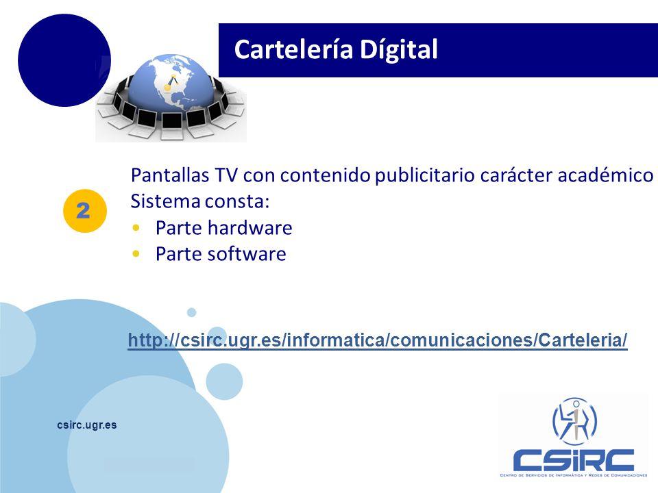 Cartelería Dígital Pantallas TV con contenido publicitario carácter académico. Sistema consta: Parte hardware.