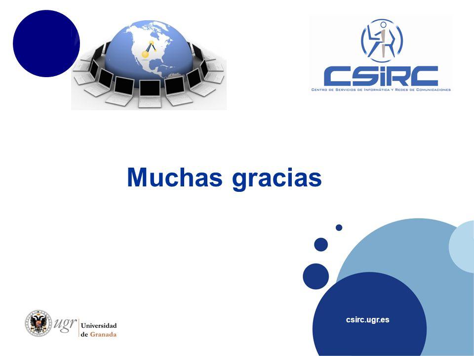 Muchas gracias csirc.ugr.es