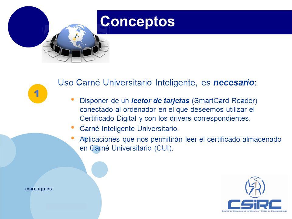 Conceptos 1 Uso Carné Universitario Inteligente, es necesario: