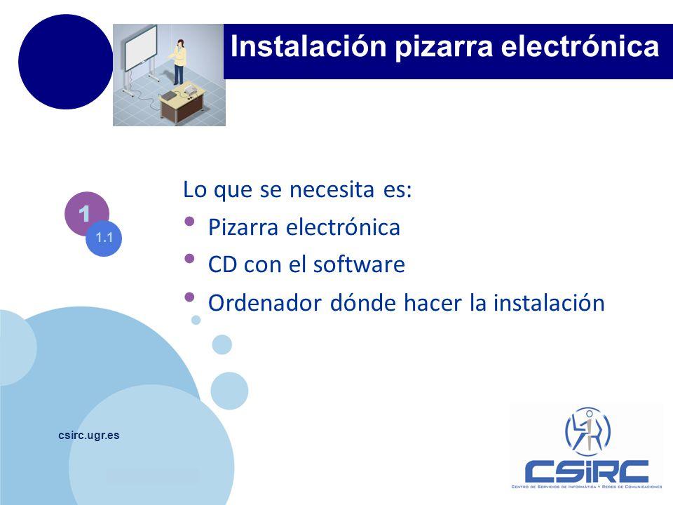 Instalación pizarra electrónica