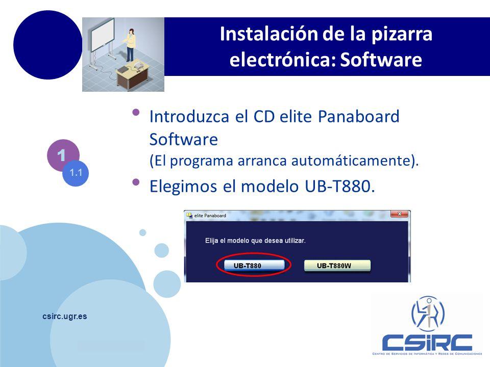 Instalación de la pizarra electrónica: Software