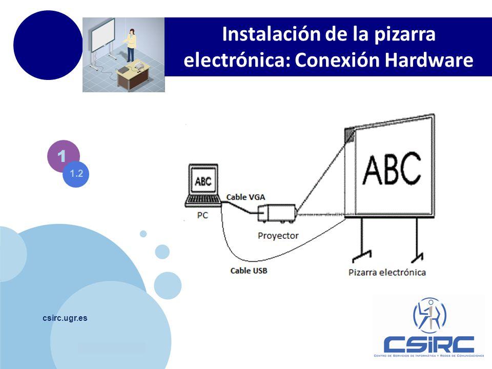 Instalación de la pizarra electrónica: Conexión Hardware